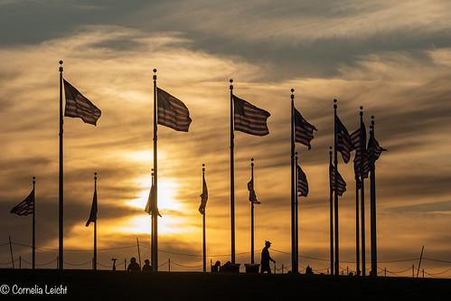 sunset in Washington DC...