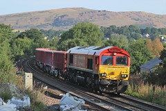 DB Cargo Class 66 66136 (Re-upload) (Adam Fox - Plane and Rail photography) Tags: ews dbc uk railroad trains train peak district chapel en le frith shed sheds diesel loco locomotive locos locomotives first yiwu london freight br british rail railways eccles pike railway
