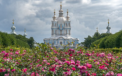 Smolny Convent (Al Case) Tags: saint petersburg russia blue white church smolny cathedral resurrection al case nikon d500 nikkor 1680mm convent voskresensky ploschad rastrelli river neva st russian orthodox