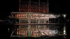 Dunkerque_Gare 001 (Davidkos) Tags: nuit gare eclairage coloré pluie reverberation pose longue