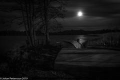 Cold moon (johanpettersson63) Tags: trollhättan västragötalandslän sverige blackandwhite