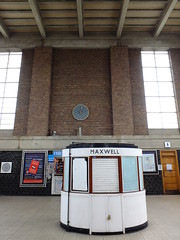 Inside the Ticket Hall (failing_angel) Tags: 180519 london piccadillylinetour piccadillyline londonboroughofenfield cockfosters charlesholden frankpick oakwood undergroundstation charleshjames undergroundgroup londontransportpassengerboard artdeco