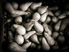 Box of Pears (Feldore) Tags: belfast box pears sepia st georges market northern ireland old vintage retro feldore mchugh em1 olympus 17mm 18