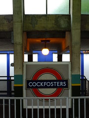 Cockfosters Beyond the Rail (failing_angel) Tags: 180519 london piccadillylinetour piccadillyline londonboroughofenfield cockfosters charlesholden frankpick artdeco undergroundstation