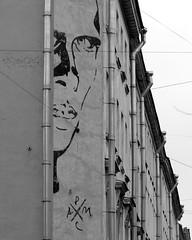 IMGP2584 (PahaKoz) Tags: ленинград санктпетербург город осень leningrad stpetersburg city autumn пейзаж городской landscape cityscape улица дождь street rain граффити портрет хармс kharms portrait graffiti