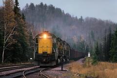 Alcos at Partridge (Moffat Road) Tags: chicagonorthwestern cnw alco c628 highhood oretrain locomotive partridge michigan train railroad mi uppermichigan