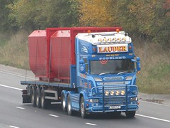 Charlie Lauder Transport, Scania (S80CLT) On The A1M Northbound 4/11/19 (Gary Chatterton 7 million Views) Tags: charlielaudertransport scaniatrucks s80clt trucking wagon lorry distribution logistics transport motorway flickr canonpowershotsx430 photography