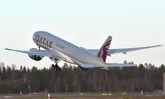 Qatar A7-BFN, OSL ENGM Gardermoen (Inger Bjørndal Foss) Tags: a7bfn qatar boeing 777 cargo osl engm gardermoen