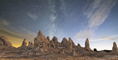 Tufa Composite (magnetic_red) Tags: extremeterrain tufas pinnacles desert landscape nightsky milkyway clouds beautyinnature tronapinnacles outdoors nopeople