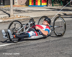 2019 TCS New York City Marathon on Fifth Avenue in Central Harlem, Manhattan NYC (jag9889) Tags: 2019 2019newyorkcitymarathon 2019tcsnewyorkcitymarathon 20191103 5thavenue athlete bike centralharlem disabled eleventhplace fifthavenue handbike handcycle harlem manhattan marathon men ny nyc newyork newyorkcity outdoor race runner running sport tcs tataconsultancyservices transportation tricycle usa unitedstates unitedstatesofamerica vehicle humanpowered jag9889