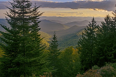 High Places (mevans4272) Tags: mountains evergreens sky clouds autumn nc usa ridge blue parkway