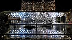 Dunkerque_Gare 008 (Davidkos) Tags: nuit gare eclairage coloré pluie reverberation pose longue