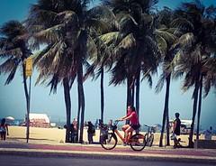 é o tempo que conta (lucia yunes) Tags: praia copacabana mar sol primavera luz sea seascape beach streetlife streetstyle life urbanlife luciayunes bike bicicleta cycling