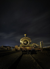813 (Images from the Dark Side) Tags: didcot steam astro night train engine rails dark evening samyang 14mm