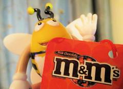 M&M's logo... (Valerie Peters) Tags: macromondays brandandlogos