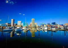 Brilliant Baltimore, Maryland (` Toshio ') Tags: toshio baltimore maryland brilliantbaltimore usa america innerharbor city downtown reflection harbor cloud boat marina skyscraper skyline fujixt2 xt2