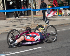 2019 TCS New York City Marathon on Fifth Avenue in Central Harlem, Manhattan NYC (jag9889) Tags: 2019 2019newyorkcitymarathon 2019tcsnewyorkcitymarathon 20191103 5thavenue americanflag athlete bike centralharlem disabled fifthavenue handbike handcycle harlem manhattan marathon men ny nyc newyork newyorkcity outdoor race runner running sport tcs tataconsultancyservices transportation tricycle usa unitedstates unitedstatesofamerica vehicle humanpowered jag9889