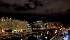 Nachts an der Spree (Renate R) Tags: friedrichstrase spree river berlin night