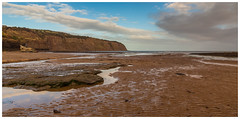 Robin Hoods Bay. (Ian Emerson (Thanks for all the comments and faves) Tags: robinhoodsbay northyorkshire yorkshire beach ripples sand seascape cliffs canon6d canon 24105 sunny clouds reflection weekendaway