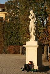 Silence is Golden (Wolfgang Bazer) Tags: silence is golden schweigen ist gold angerona statue sculpture skulptur schlosspark schönbrunn garden ancient roman goddess secrecy altrömische römische göttin der stille und verschwiegenheit johann wilhelm beyer wien vienna österreich austria schloss