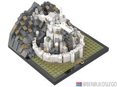 Micro Minas Tirith (3) (BenBuildsLego) Tags: lotr lord rings minas tirith gondor mini micro lego legos toy toys cool design city benbuildslego fantasy architecture style mountain rock rocky