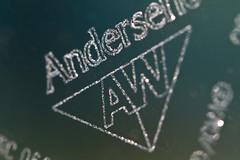 Etched (brucetopher) Tags: macromondays brandandlogos brand logo logos andersen window windows etching glass corner etched etch engrave engraving pane