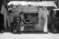 Store (Beegee49) Tags: street man people store bucket blackandwhite monochrome sony bw bacolod city philippines asia