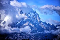 IN THE BEGINNING ... (Aspenbreeze) Tags: tetonmountains grandtetonnationalpark mtteton fog clouds morning nature natural mountainpeak peak beverlyzuerlein aspenbreeze moonandbackphotography