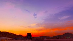 Enchanting! (NicolasBum) Tags: highway mack sky sunset orange purple colourful