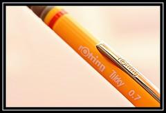 """Rotring Tikky 3 Mechanical Pencil"" (NikonShutterBug1) Tags: macro closeup nikond7100 tamron60mm macromondays spe smartphotoeditor stationery highkey rotring mechanicalpencil brandandlogos pencil macromondaysretake"