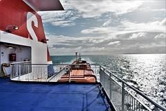 Dublin bound on the Stena Superfast X (M Cavendish) Tags: ireland ferry stenasuperfastx ocean sea water waves sky clouds sun colours irish holyhead dublin boat