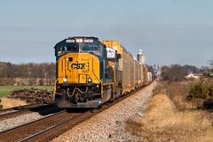 CSX 4560 - Sidney, OH (Wheelnrail) Tags: emd sd70mace rebuilt ac locomotive loco rebuild sw cabin sidney ohio oh toledo subdivision q507 signal signals rural