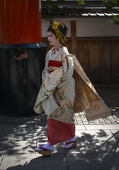 GEISHA GIRL....JAPAN. (IMAGES OF WALES.... (TIMWOOD)) Tags: japan kyoto geisha girl shrine temple palace golden gold reflections tokyo landscape tim wood gallery