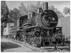 Toronto Hamilton and Buffalo Railway #42 (Looking for something to post!!) Tags: canon eos 70d 18135mmstm psp2019 paintshoppro2019 efex topazstudio trains preserved canada ontario blackandwhite