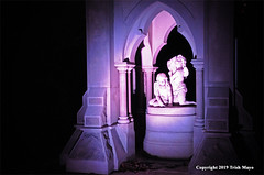 Creatures Of The Night (Trish Mayo) Tags: woodlawn cemetery sculpture art angels nightphotography
