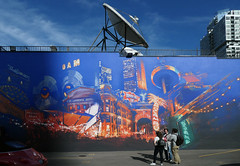 Street Art Toronto. (Bernard Spragg) Tags: streetarttoronto mural lumix toronto art colour street paintings compactcameras urban cityscape tvdish radio cco