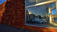 Outside Looking In. (Tim @ Photovisions) Tags: xt1 nebraska fuji rod fujifilm car building auto window