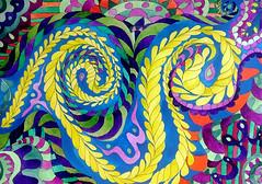 Watercolor Painting (Imara U.) Tags: watercolor watercolors painting pintura pattern patterns art arte aquarela artista artist abstract caneta colorful colors color colorido cores cor curves creation creative curvas circles contemporaryart work artnouveau