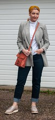 A Classic Preppy Look of Check Blazer, Roll Neck and Jeans | Not Dressed As Lamb, Over 40 Fashion and Style (Not Dressed As Lamb) Tags: preppy look outfit ootd autumn winter check blogger fashion style