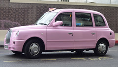 a pink London 'Black Cab' (Scott Mundy) Tags: pink london black cab hackney carriage taxi