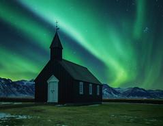 Búðakirkja (Dudeinglasses) Tags: aurora kp4 iceland blackchurch búðakirkja eu europe northernlights auroraborealis