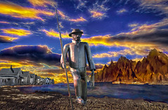 Standing Tall (Rusty Russ) Tags: pyramid lake tin man tall houses water montage colorful day digital flickr country bright happy colour scenic america world sunset sky red nature blue white tree green art light sun cloud park landscape summer old new photoshop google bing yahoo stumbleupon getty national geographic creative composite manipulation hue pinterest blog twitter comons wiki pixel artistic topaz filter on1 sunshine image reddit tinder russ seidel facebook timber unique unusual fascinating