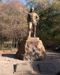 Livingstone Centenary Statue at Victoria Falls, Tanzania