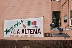 Taqueria La Altena, San Francisco, CA (Robby Virus) Tags: sanfrancisco california ca sf taqueria la altena burrito mexican restaurant food sign signage painted