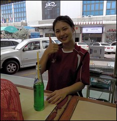 Bangkok Don Muang Greeting 20190508_165441 DSCN5333 (CanadaGood) Tags: asia seasia asean thailand thai ราชอาณาจักรไทย bangkok dmk donmueang donmuang hotel restaurant beverage fanta people person sign canadagood 2019 thisdecade color colour krungthep