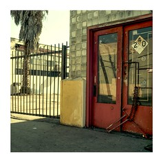 (ADMurr) Tags: la eastside industrial glass blocks door palm hasselblad 500cm zeiss 50mm distagon kodak ektar dad931