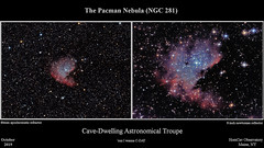 PacmanNebula_NGC281_Composite_20191023_HomCavObservatory_ReSizedDown2HD (homcavobservatory) Tags: homcav observatory ngc 281 pacman emission nebula ic 1590 open star cluster canon 700d t5i dslr orion ed80t cf carbon fiber 80mm f6 triplet apochromatic refractor 08x televue field flattener focal reducer 8inch f7 criterion newtonian reflector losmandy g11 mount gemini 2 control system phd2 zwo asi290mc autoguider celestron shorttube astronomy astrophotography