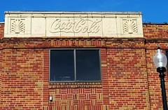 Coca Cola building - Mexico, Missouri (Cragin Spring) Tags: midwest unitedstates usa unitedstatesofamerica building coke cocacola bottle cokebottle soda pop lamp brick detail mexico mexicomo mexicomissouri missouri