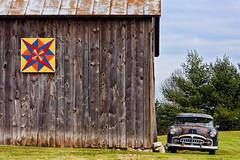 Pattern and Packard (s.w.Lepak) Tags: 1951packard barnquilt oldbarn barn packard franciscreekwisconsin wisconsin franciscreek