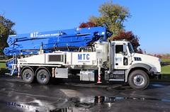 MTC Concrete Pumping Truck (raserf) Tags: mtc concrete cement pump pumper pumping truck trucks putzmeister mack sturtevant wisconsin racine county mt constructors orlando florida